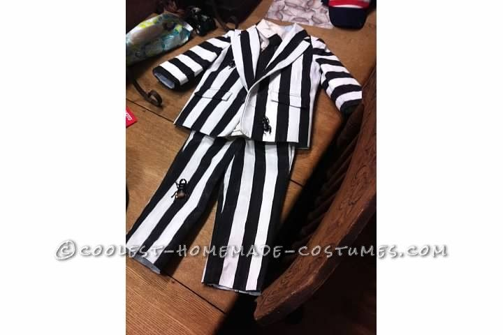 Homemade Two-Year-Old Toddler Beetlejuice Costume...