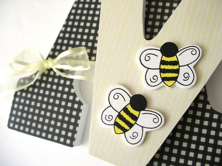 Custom Decorated Wooden Letters BUMBLEBEE Theme - Nursery Bedroom Home Décor, Wall Decorations, Wood Letters, Personalized. $25.00, via Etsy.