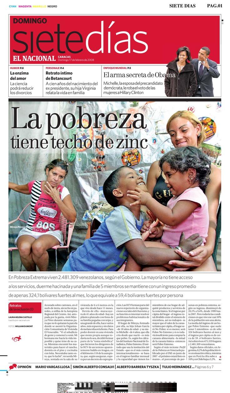 """""""La pobreza tiene techo de zinc"""" Publicado el 17 de febrero de 2008 Vía @ArchivoEN"""