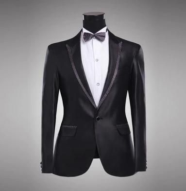 Black Edge singers wedding formal dress men's clothing groom married suits blazers mens suit set man jackets + pants + ties XL     Tag a friend who would love this!     FREE Shipping Worldwide     Buy one here---> http://onlineshopping.fashiongarments.biz/products/black-edge-singers-wedding-formal-dress-mens-clothing-groom-married-suits-blazers-mens-suit-set-man-jackets-pants-ties-xl/