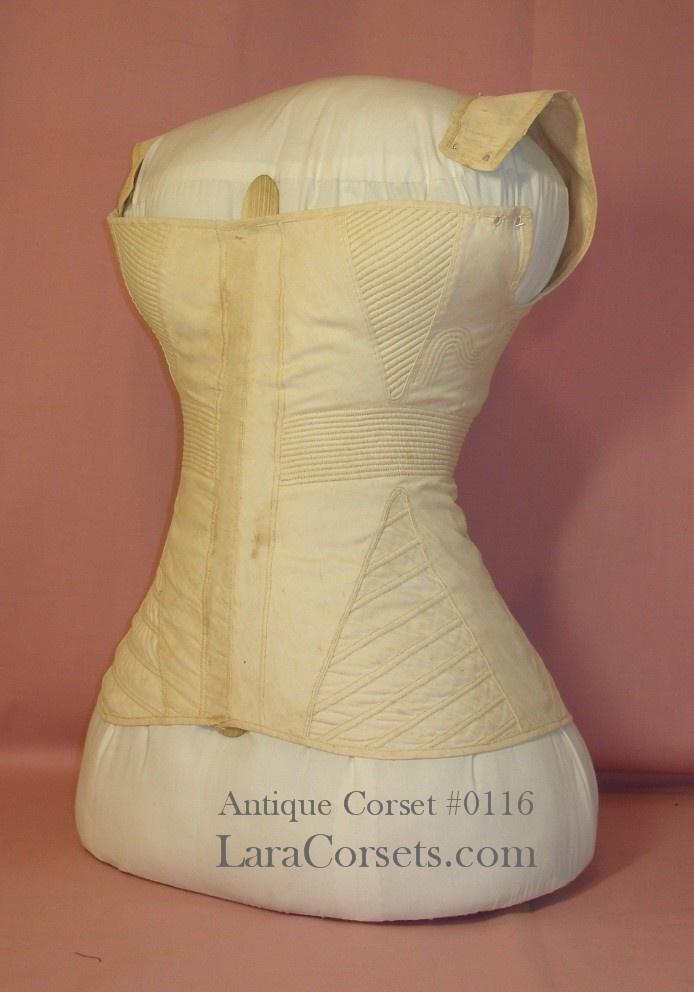 "1820s-1830s antique regency stay/corset 28"" bust, 21"" waist"