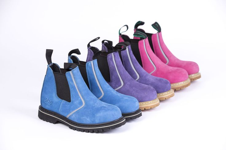 """Launching end of November .. our new """"she will"""" range (pull on safety work boot).  In 3 colours."""