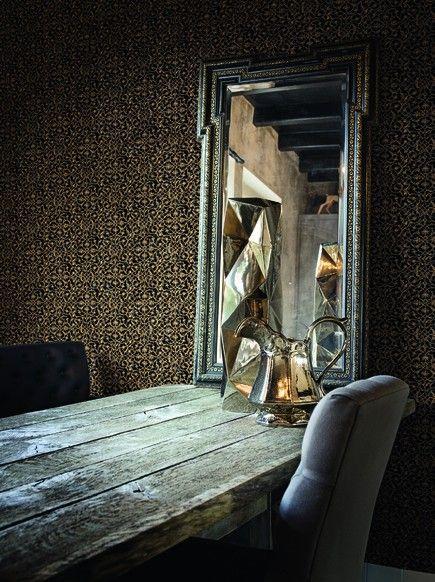 Meer dan 1000 idee n over goud behang op pinterest muurschilderingen damast behang en zilver - Behang zwart en goud ...