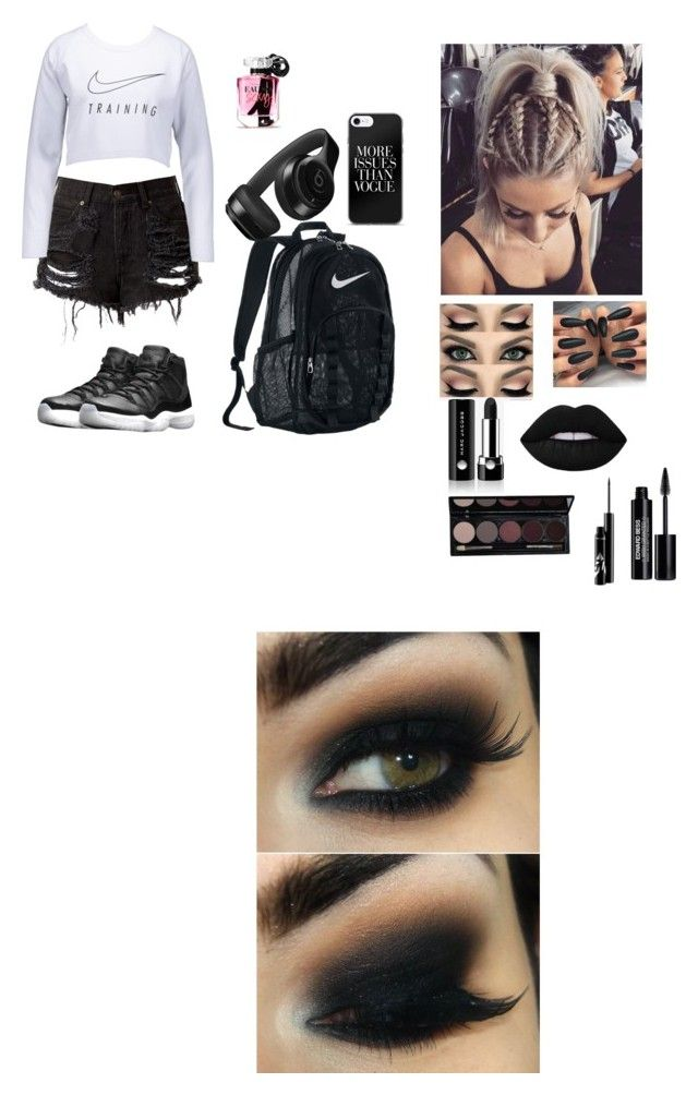 """edgy hipster"" by itsalyssianicole ❤ liked on Polyvore featuring NIKE, Beats by Dr. Dre, Victoria's Secret, Marc Jacobs and Edward Bess"