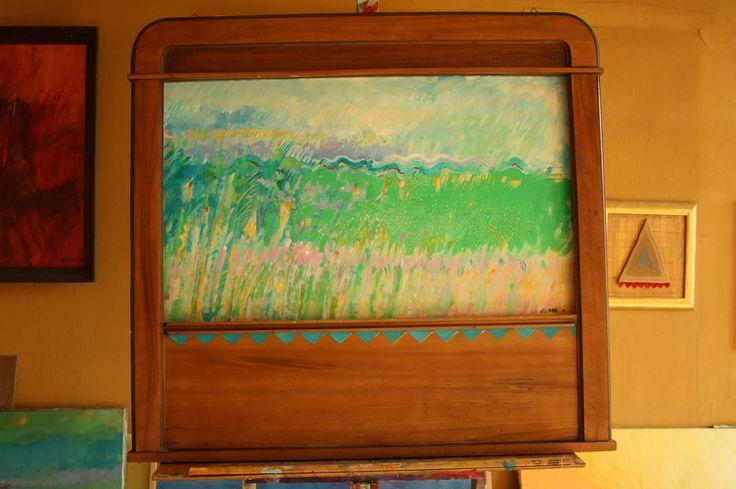 """""""Rezerwat XXXIV"""", oil, 85x90 cm"""