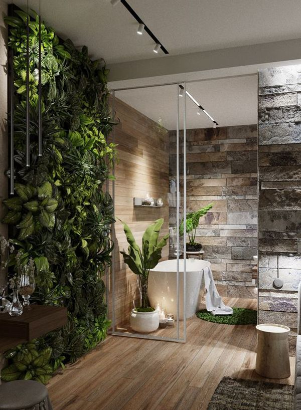 20 Modern Master Bathrooms Connected To Nature | Modern ... on Backyard:uuezyx-Hy-8= Landscape Design  id=86657