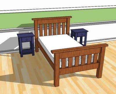 Build the Simple Bed...actual BED plans, then use the 'bunk' plans to get hand rails and ladder