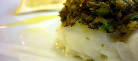 Crumble de poisson à l'achillée - Cuisine sauvage ASBL