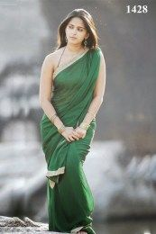 Anushka Shetty In Green Saree