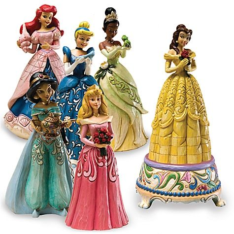 Disney Princess Music Box with interchangable Disney Princesses...yeah, I own these.  They're awesome...well, except Tiana.  But that's because her song isn't as awesome.