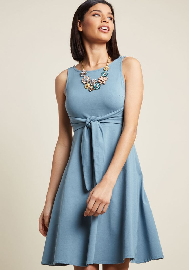 We conclude that this jersey knit dress from our ModCloth namesake label is simplistic chicness done right! Supporting evidence for our claim includes this...