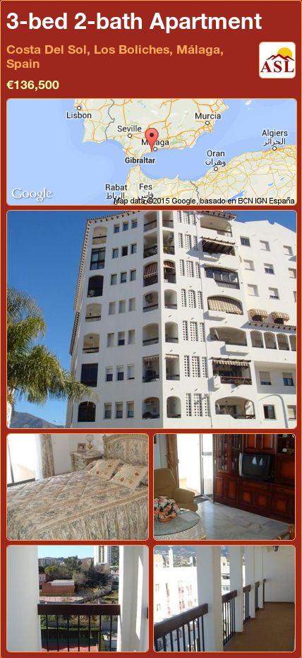 3-bed 2-bath Apartment in Costa Del Sol, Los Boliches, Málaga, Spain ►€136,500 #PropertyForSaleInSpain
