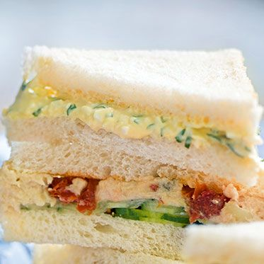 Sandwiches mit Eiercreme