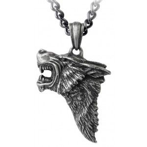 Dark Wolf Pendant with Chain - New at GothicPlus.com - your source for gothic clothing jewelry shoes boots and home decor.  #gothic #fashion #steampunk