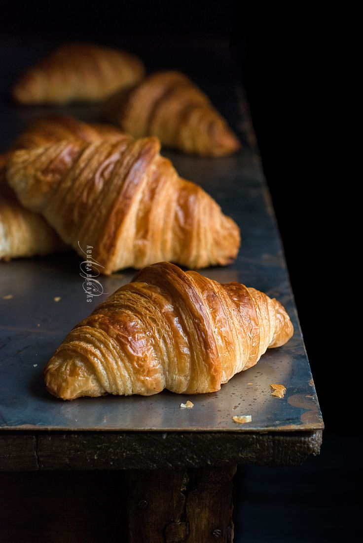 Homemande and hand-laminated sourdough croissants. By Sylvain Vernay.