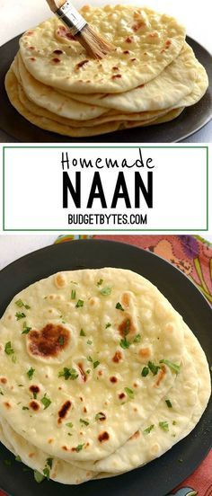 Soft, pillowy, homemade naan is easier to make than you think and it's great for sandwiches, pizza, dipping, and more. Step by step photos. - BudgetBytes.com: