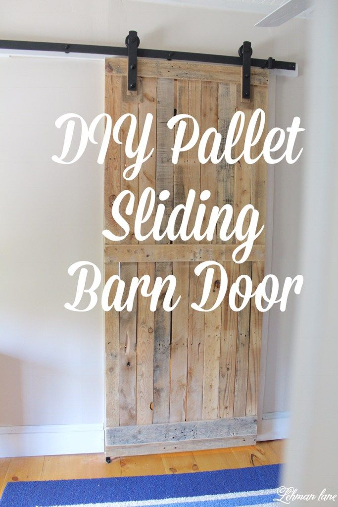 A pallet barn door adds a lot of character, saves space, looks amazing and is cheap and easy to make! Learn how to make yours today!!! More