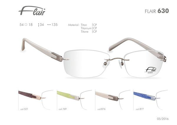 FLAIR Brillen made in Germany: Flair randlose Brillen Modell 630