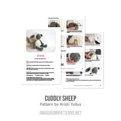 Cuddly sheep amigurumi pattern - Amigurumipatterns.net