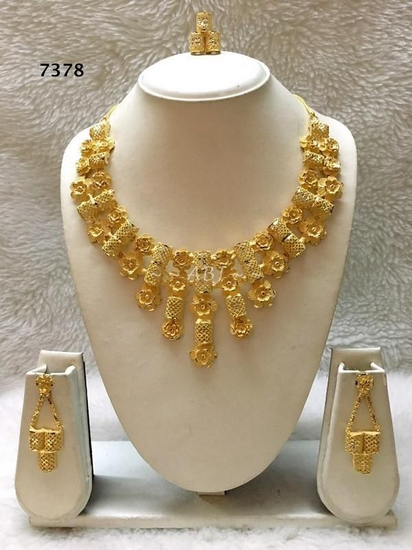 African Gold Necklace, Gold Plated Necklace, Bijoux, Dubai