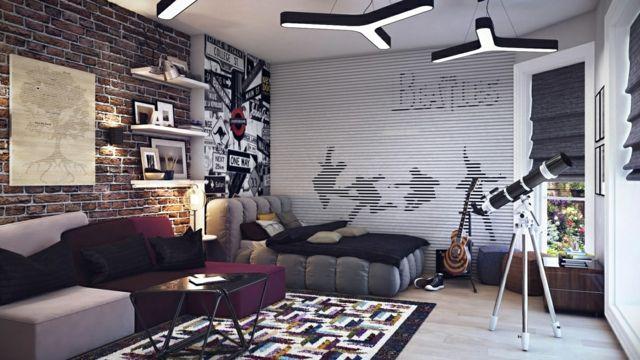 chambre d'ado design pour garçon