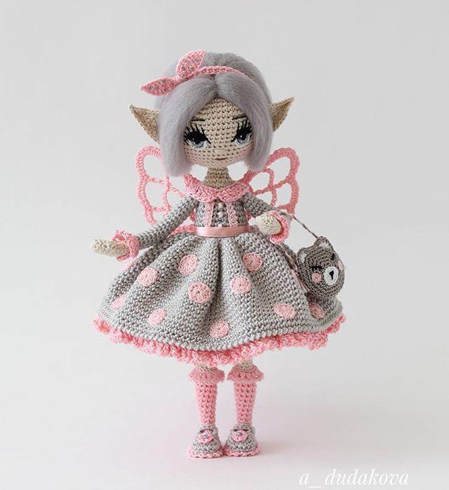 А зовут нашу сладкоежку -Айнинкэ ! ________________________________________Каркасная кукла. Итальянский хлопок. Рост 18 см Дом нашла .#эльфиечки2016