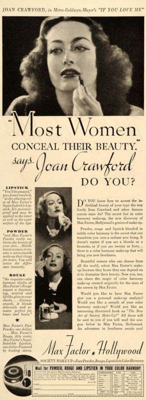 Max Factor -- Joan Crawford, 1935