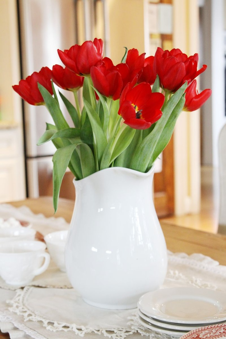 Of tulips cecila san tags flower field photoshop vintage tulips - Red Tulips My Favorite Flowers Work In Any Home Decor