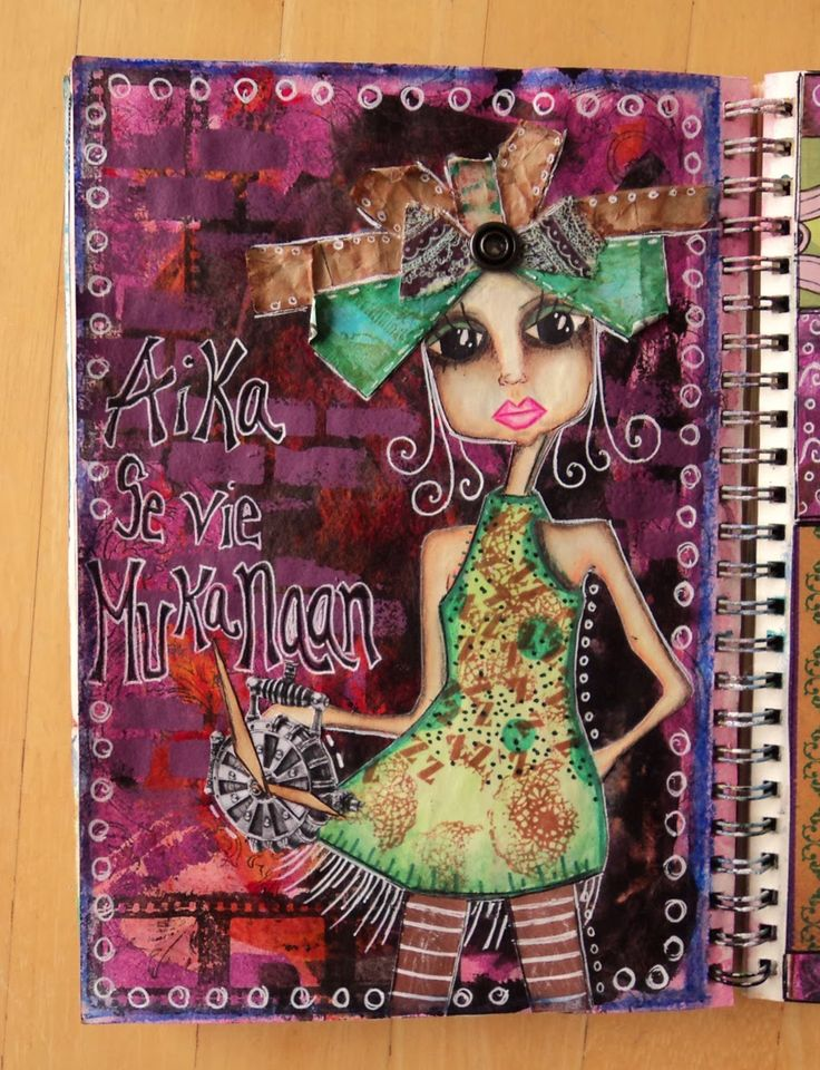 "Art Journal by *Silkku* ""The time it takes with"" silkkus.blogspot.fi"