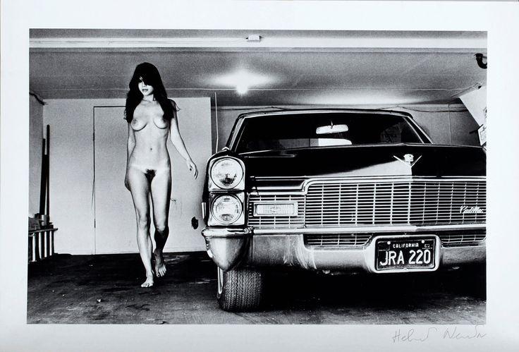 Hollywood 1976 helmut newton cadillac in garage for Garage ad barlin