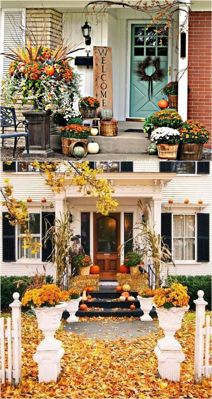 25 Splendid DIY Fall Outdoor Decorations For Your Front Porch And Door:  Super Creative Ideas