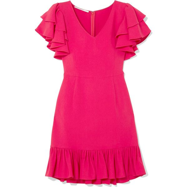 Cut from fluid crepe in a slim silhouette, Stella McCartney's mini dress is the perfect style for wearing to parties. It comes in a vivid bubblegum shade and h…