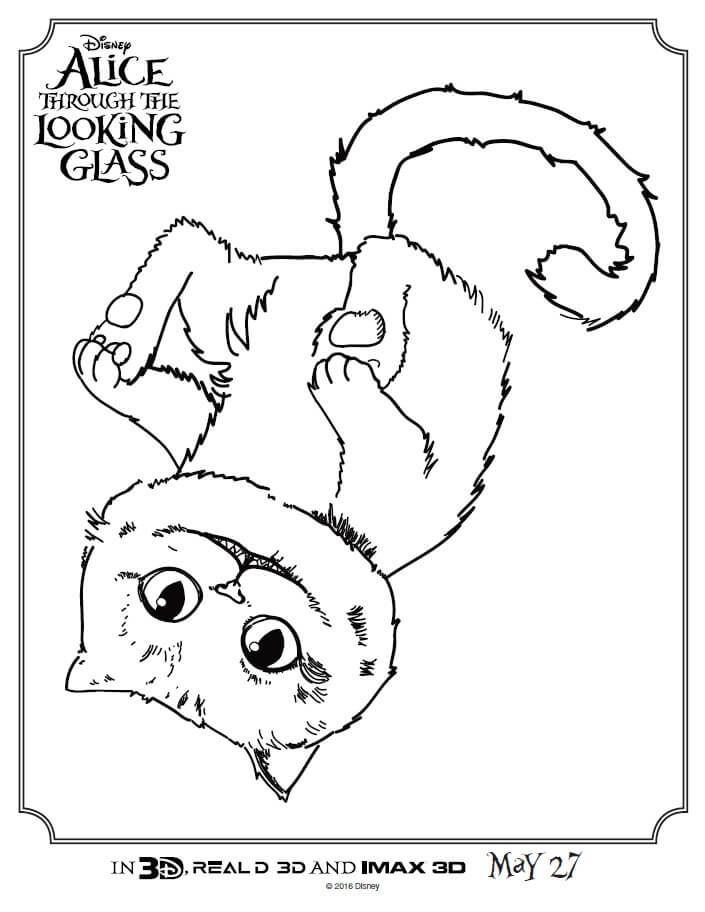 check out these alice through the looking glass coloring pages print these full size coloring - Activity Pages To Print