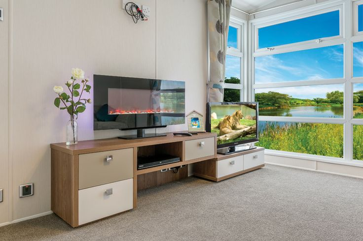 Option 2 - Pull out TV stand - TV and DVD player not included