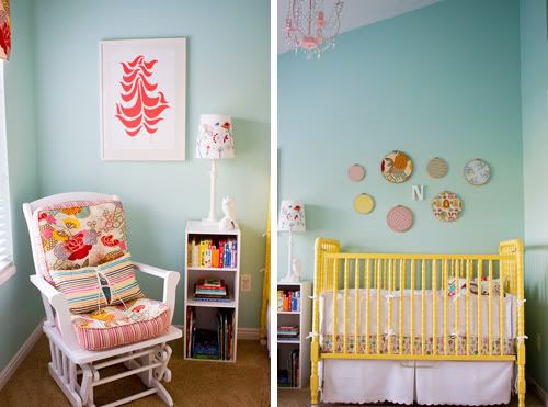 Yellow, Aqua & Red Baby Nursery! - Design Dazzle