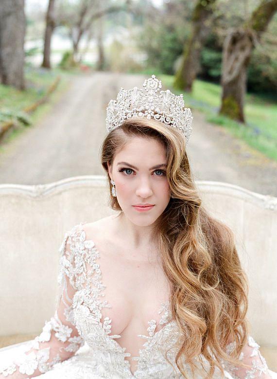 85 best Glam Wedding Ideas images on Pinterest | Bridal tiara ...