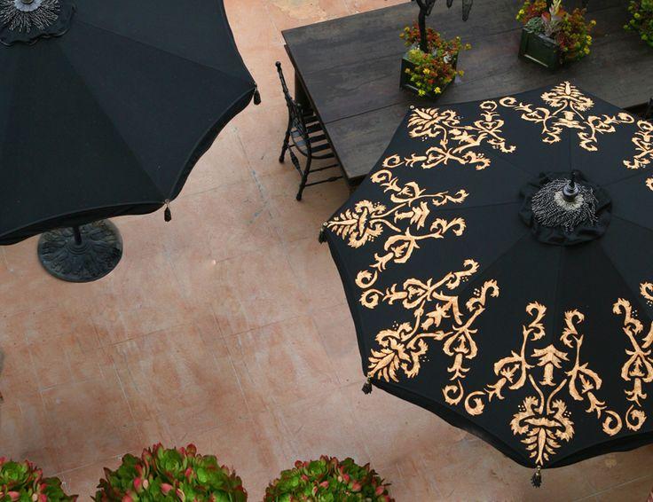 designer patio umbrellas poolside glamour a la slim aarons stylish patio umbrellas palm springs style custom - Designer Patio Umbrellas