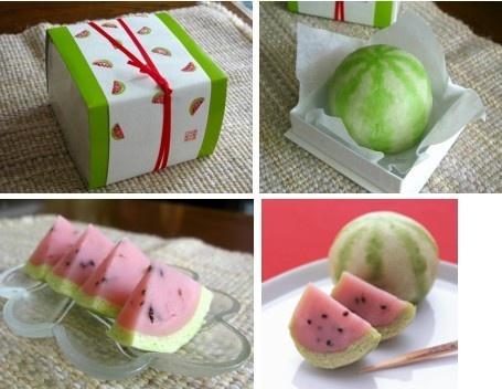 Japanese Sweets, wagashi, 榮太樓總本鋪: 季節限定商品の西瓜まんじゅう!