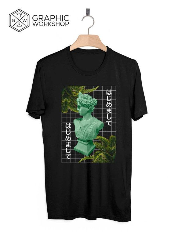 Greek Goddess T-Shirt // Vaporwave by GraphicWorkshopStore on Etsy