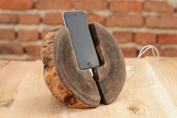 Madera iPhone 6s madera estación Docking iPhone 6 Muelle iPhone 6 titular Regalo…