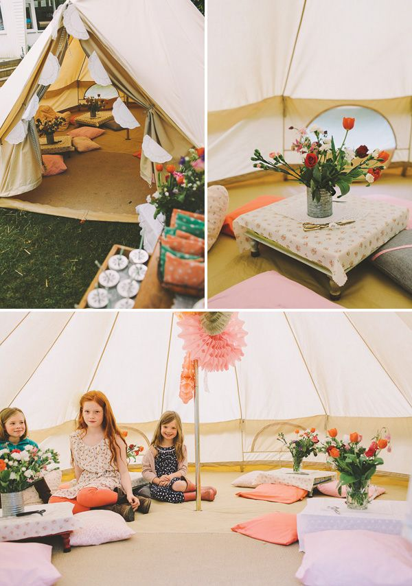 Garden Festival Glamping Birthday Party by Pretty Little Party Shop on Hostess with the Mostess