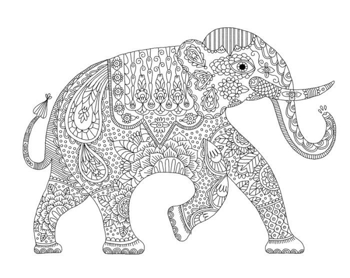 316 best images about Adult Colouring Elephants Zentangles