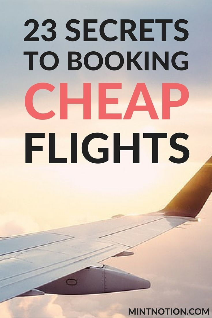 23 Secrets To Booking Cheap Flights