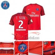 Fr-Football: Paris PSG 2016-2017 Saison Flocage Maillot De Foot T Silva 2 Exterieur Rouge |Thai Edition