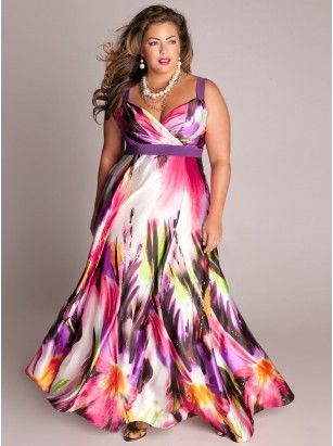 Tropical Beauty Plus Size Maxi Dress - Bridal Collection by IGIGI