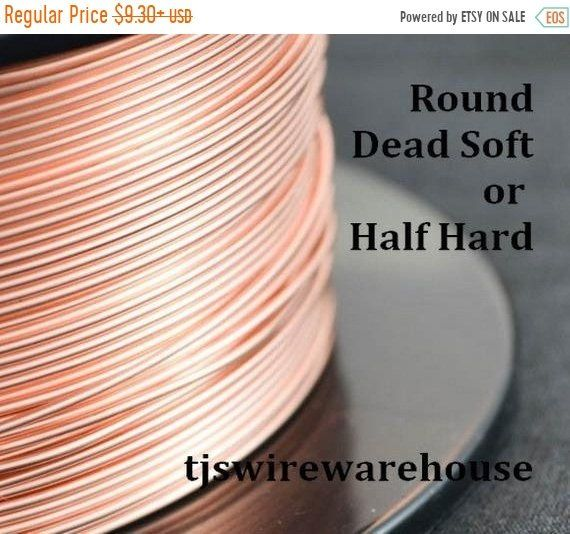 40 Off Spooled Round Raw Solid Copper Wire Spooled 4 Oz Etsy Copper Wire Wire Spool Wire