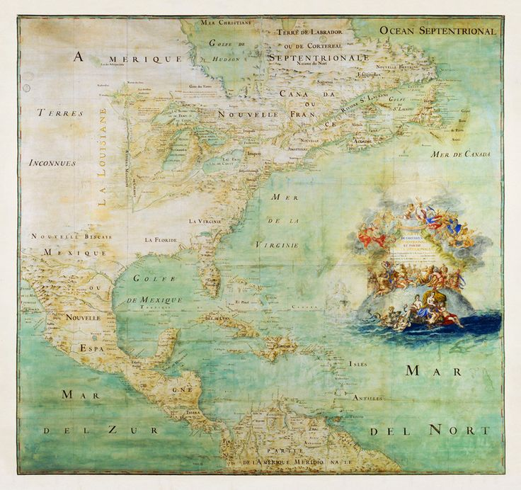 1681 map of the New World New