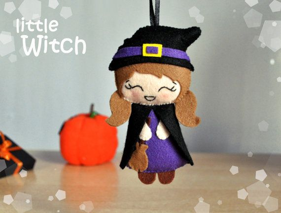cute halloween decor ornaments halloween by mymagicfelt on etsy - Etsy Halloween Decorations