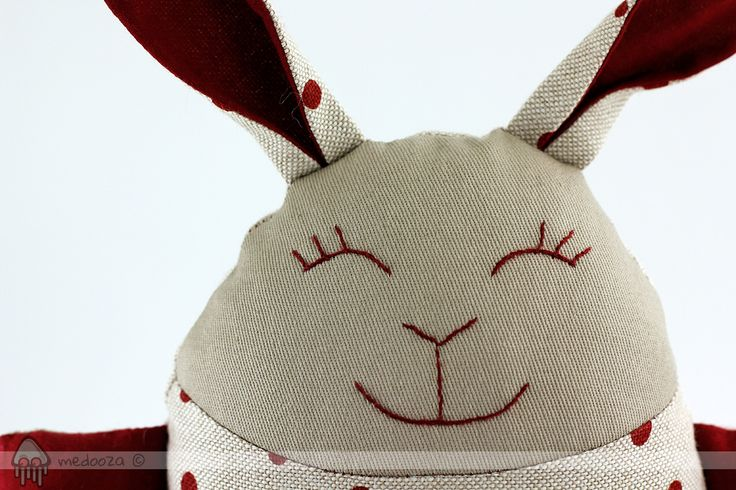 Handmade bunny toy, a unique design from medooza.