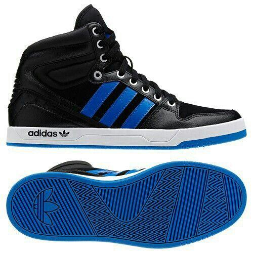 Adidas Originals Court Attitude Shoes (Black / Bluebird / White) to support  the Minnesota Timberwolves.